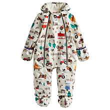 Buy Baby Joule Charlie Tractor Snowsuit, Cream Online at johnlewis.com