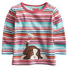 Buy Baby Joule Bess Dog Stripe T-Shirt, Multi Online at johnlewis.com