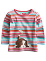 Baby Joule Bess Dog Stripe T-Shirt, Multi