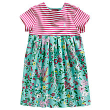 Buy Baby Joule Ronny Stripe & Floral Print Dress, Pink/Green Online at johnlewis.com