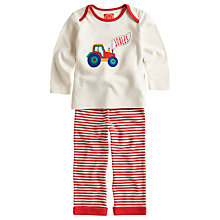 Buy Baby Joule Farm Top and Stripe Trouser Set, Cream/Red Online at johnlewis.com