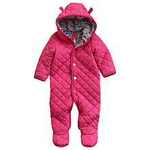 Buy Baby Joule Hatty Snugsuit, Pink Online at johnlewis.com
