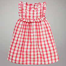 Buy John Lewis Check Cotton Dress, Pink/White Online at johnlewis.com