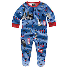 Buy Baby Joule Ziggy London Print Sleepsuit, Blue Online at johnlewis.com