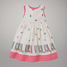 Buy John Lewis Window Print Dress, Cream Online at johnlewis.com