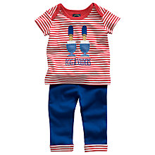 Buy Baby Joule Nipper Egg & Soldiers Outfit, Red/Blue Online at johnlewis.com