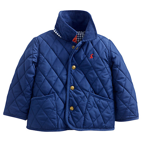 Buy Baby Joule Milford Quilted Jacket, Navy Online at johnlewis.com