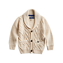 Buy Baby Joule Teddy Cardigan, Cream Online at johnlewis.com