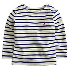 Buy Baby Joule Breton Stripe T-Shirt, Cream/Navy Online at johnlewis.com