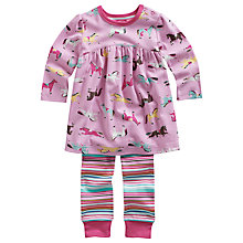 Buy Baby Joule Isabelle Horse Print Top and Leggings Set, Pink Online at johnlewis.com