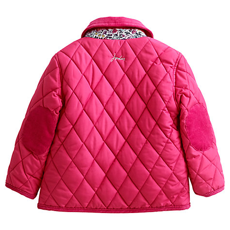 Buy Baby Joule Mabel Quilted Coat, Pink Online at johnlewis.com