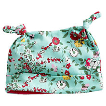 Buy Baby Joule Floral Print Hat, Green Online at johnlewis.com