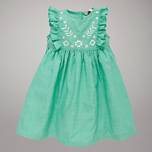 Buy John Lewis Cotton Dress, Green Online at johnlewis.com