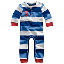 Buy Baby Joule Hobart Stripe Sleepsuit, Blue Online at johnlewis.com
