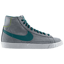 Buy Nike Blazer Mid Vintage Trainers, Grey/Green Online at johnlewis.com