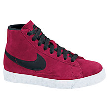 Buy Nike Blazer Mid Vintage Trainers, Red/Black Online at johnlewis.com