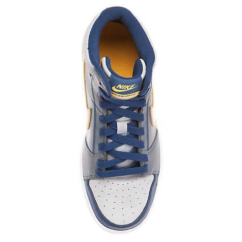 Buy Nike Backboard II High Top Trainers, Blue/Grey Online at johnlewis.com