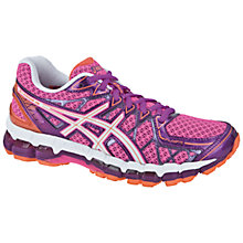Buy Asics Women's GEL-Kayano 20 Running Shoes, Pink/Purple/White Online at johnlewis.com