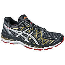 Buy Asics Men's GEL-Kayano 20 Running Shoes, Black/White/Gold Online at johnlewis.com