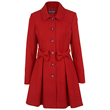 Buy Miss Selfridge Bow Detail Coat, Red Online at johnlewis.com
