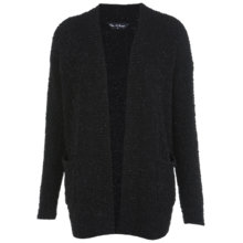 Buy Miss Selfridge Pearl Yarn Cardigan, Black Online at johnlewis.com
