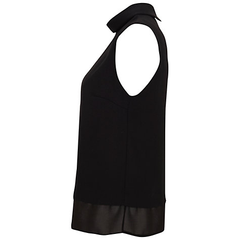 Buy Miss Selfridge Roll Neck Sleeveless Top, Black Online at johnlewis.com