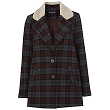 Buy Miss Selfridge Check Borg Collar Coat, Assorted Online at johnlewis.com