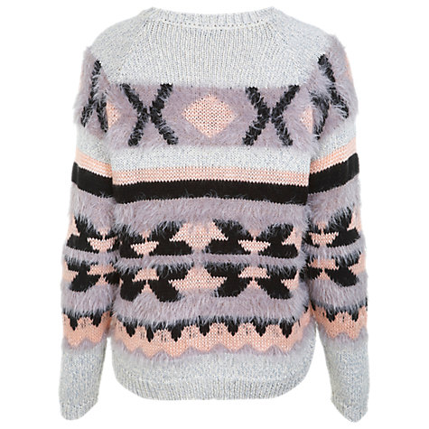 Buy Miss Selfridge Aztec Printed Fluffy Jumper, Assorted Online at johnlewis.com