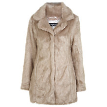 Buy Miss Selfridge Blond Faux Fur Coat, Light Brown Online at johnlewis.com