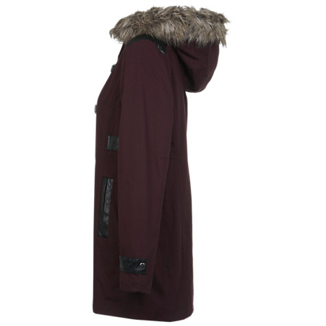 Buy Miss Selfridge Borge Buckle Parka, Burgundy Online at johnlewis.com