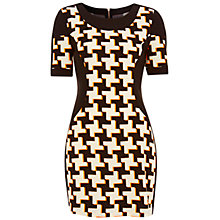 Buy Miss Selfridge Printed Colour Block Dress, Assorted Online at johnlewis.com