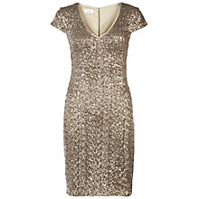 Buy Hobbs Invitation Tamsin Dress, Gold Online at johnlewis.com