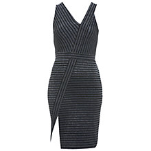 Buy Miss Selfridge Lurex Strap Asymmetric Dress, Silver Grey Online at johnlewis.com