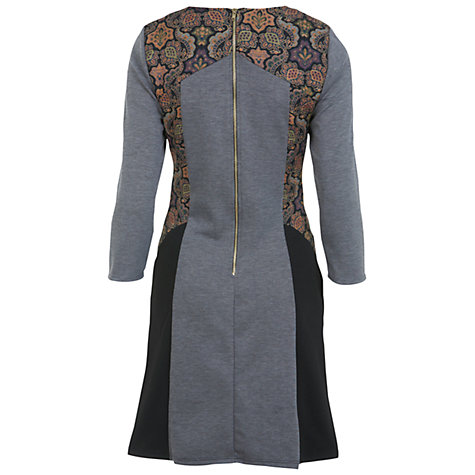 Buy Miss Selfridge Brocade Mix Panel Dress, Assorted Online at johnlewis.com