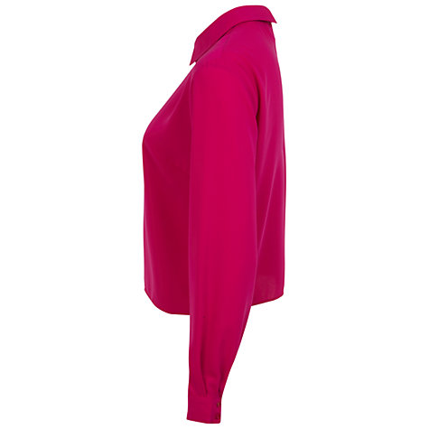Buy Miss Selfridge Long Sleeve Collar Top Online at johnlewis.com