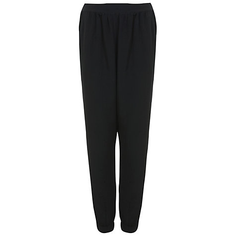 Buy Miss Selfridge Soft Woven Jogger, Black Online at johnlewis.com