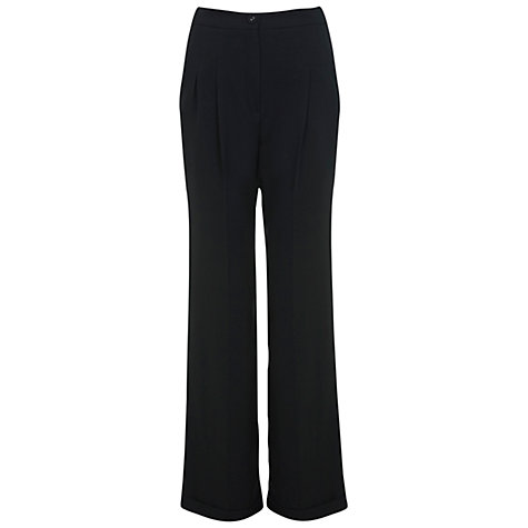 Buy Miss Selfridge High Waisted Trousers, Black Online at johnlewis.com
