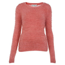 Buy Miss Selfridge Fluffly Lace Back Jumper, Coral Online at johnlewis.com