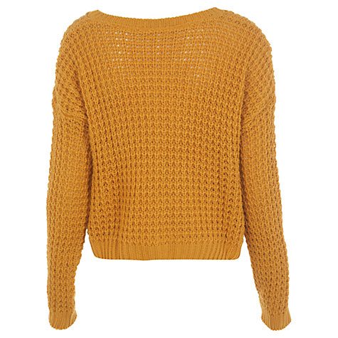 Buy Miss Selfridge Waffle Knit Jumper Online at johnlewis.com