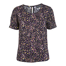 Buy Miss Selfridge Splatter Print T-Shirt, Assorted Online at johnlewis.com