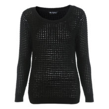 Buy Miss Selfridge Split Back Jumper, Black Online at johnlewis.com