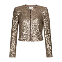 Buy Hobbs Invitation Laurence Jacket, Gold Online at johnlewis.com