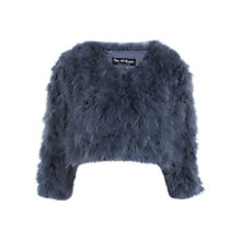 Buy Miss Selfridge Feather Bolero, Navy Online at johnlewis.com