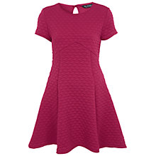 Buy Miss Selfridge Quilted Skater Dress, Pink Online at johnlewis.com