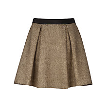 Buy Ted Baker Suhni Sparkle Skirt, Gold Online at johnlewis.com