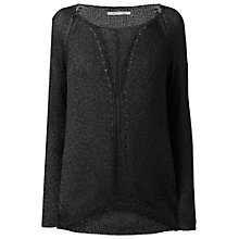 Buy Gérard Darel Lurex Sweater, Black Online at johnlewis.com