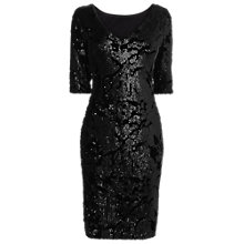 Buy Phase Eight Sancia Sequin Velvet Dress, Black Online at johnlewis.com