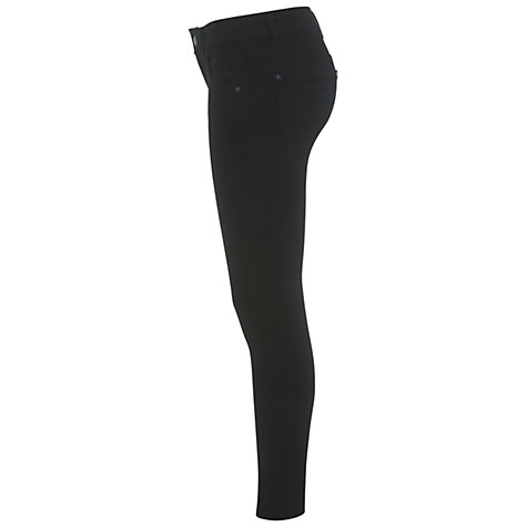 Buy Miss Selfridge Ultra Soft Jeans, Black Online at johnlewis.com