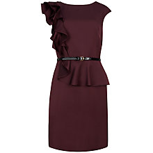 Buy Ted Baker Poielle Shoulder Frill Dress, Purple Online at johnlewis.com