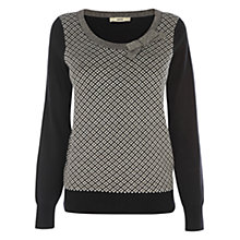 Buy Oasis Diamond Jumper, Black Online at johnlewis.com